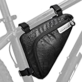 WOTOW Bike Storage Frame Bag, Roswheel Bicycle Front Tube Triangle Water Resistant Cycling Pack Strap On Saddle Pouch Bike Accessories Tool Accessible Storage Bag for Road Mountain Commute Bike