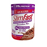 SlimFast Advanced Nutrition Creamy Chocolate Smoothie Mix - Weight Loss Meal Replacement - 20g of protein - 11.01 oz. Canister - 12 servings