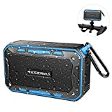 Reserwa Bluetooth Speakers with Bike Mount IPX7 Waterproof Outdoor Speaker TWS Pairing Function, Louder Volume 6W, Enhanced Bass Wireless Speaker Built-in Mic Portable Speaker (Blue)