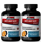 Folic acid capsules - Anti Gray Hair - Gray hair away (2 Bottles - 120 Capsules)