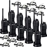 Retevis RT21 Two Way Radio Rechargeable 2 Way Radios UHF FRS VOX Emergency Security Long Range Walkie Talkies with Secret Service Earpiece (10 Pack)