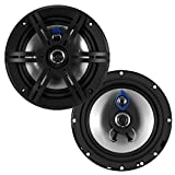 Planet Audio PL63 Pulse 300 Watt (Per Pair), 6.5 Inch, Full Range, 3 Way Car Speakers (Sold in Pairs)