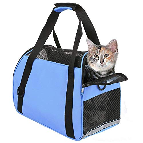 TIYOLAT Pet Carrier Bag, Airline Approved Duffle Bags, Pet Travel Portable Bag Home for Little Dogs, Cats and Puppies, Small Animals 40 x 20x 30cm 1