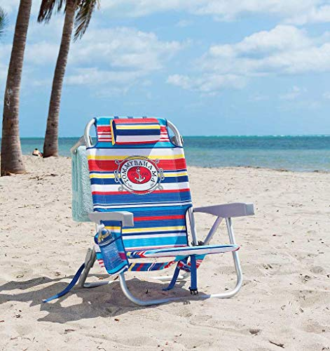 Rio Tommy Bahama Backpack Chair Multi Stripes with Anchor Logo