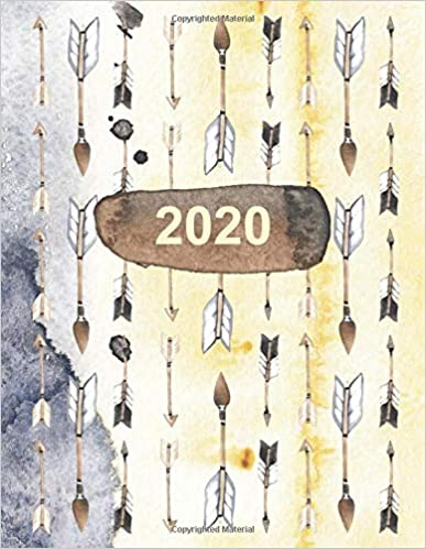 2020  Artists Productivity Planner with Boho Arrow Cover