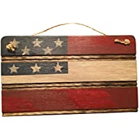 Americana American Flag Wooden Wall Decor. Perfect for any Nostalgic Americana Collection and Rustic Decor. Hand Made in the Heart of America. Made in USA (Small, No Quote)