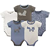 Yoga Sprout Cotton Bodysuit, 5 Pack, Forest, 9-12 Months