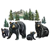 Collections Etc Bear Family and Mountain Scene Garage Door Magnets - Set of 4, Removable and Reusable Outdoor Decorative Accents