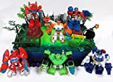 Transformers 16 Piece Birthday Cake Topper Set Featuring Optimus Prime and Friends with Decorative Themed Accessories