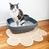 Pet Magasin Cat Litter Mat (2-Pack) - Durable Pet Litter Rugs for Cats, Dogs, and Rabbits - One Large (35.5'' x 23.5'') and One Medium (21.5'' x 17.5)
