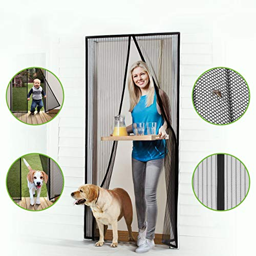 Homitt Magnetic Screen Door with Heavy...