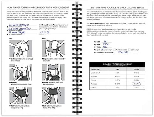 Workout/Fitness and/or Nutrition Journal/Planners - Designed by Experts, w/Illustrations : Sturdy Binding, Thick Pages & Laminated, Protected Cover 6