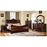 Product review for Bellefonte Baroque Style Brown Cherry Finish Eastern King Size 6-Piece Bedroom Set