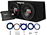 MTX Audio TNP212DV Dual 12' Subwoofer Vented Enclosure with Amplifier and 8 Gauge Amp Kit