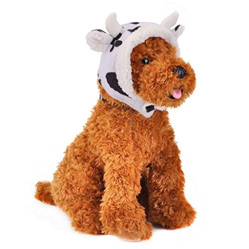 Mogoko Fleece Dog Cat Winter Hat, Pet Costume Headgear, Puppy Warm Cap Animal Head Wear Accessories 1