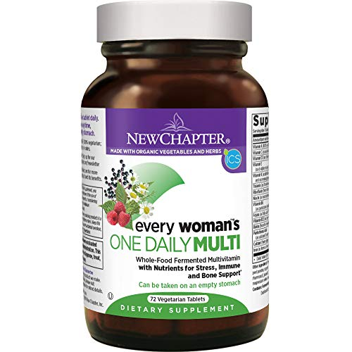 New Chapter Every Woman's One Daily, Women's Multivitamin Fermented with Probiotics + Iron + B Vitamins + Vitamin D3 + Organic Non-GMO Ingredients - 72 ct (Packaging May Vary)