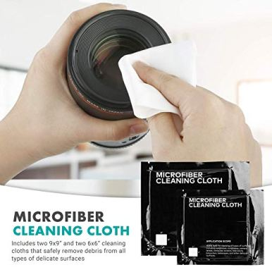 Movo-Deluxe-Essentials-DSLR-Camera-Cleaning-Kit-with-10-APS-C-Cleaning-Swabs-Sensor-Cleaning-Fluid-Rocket-Air-Blower-Lens-Pen-Soft-Brush-2X-Small-and-2X-Large-Microfiber-Cloths-and-Carrying-Case