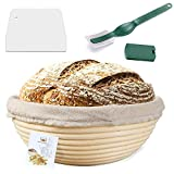 9 Inch Proofing Basket,WERTIOO Bread Proofing Basket + Bread...