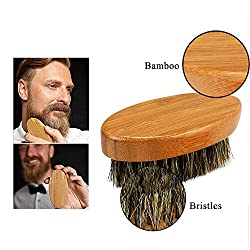 Beard Brush for Men Long Beard Grooming and Shaping, Boar Bristle Beard Comb Natural Bamboo Facial Pocket Brush for Mustache Styles Short, Great with Beard Oil, Balm, Beard Shampoo and Conditioner  Image 2