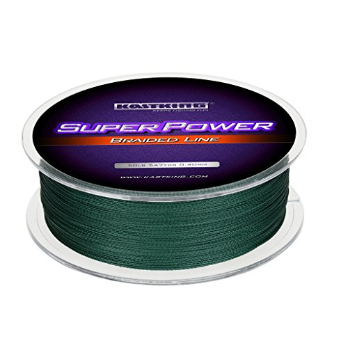 KastKing Superpower Braided Fishing Line,Moss Green,50 LB,547 Yds