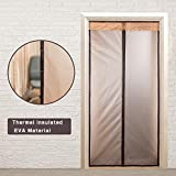 Magnetic Thermal Insulated Door Curtain for Air Conditioner Heater Room/Kitchen Warm Winter Cool Summer, Keeping Out Draft and Cold Air Screen Door Auto Closer Fits Doors Up to 34'x 82' MAX