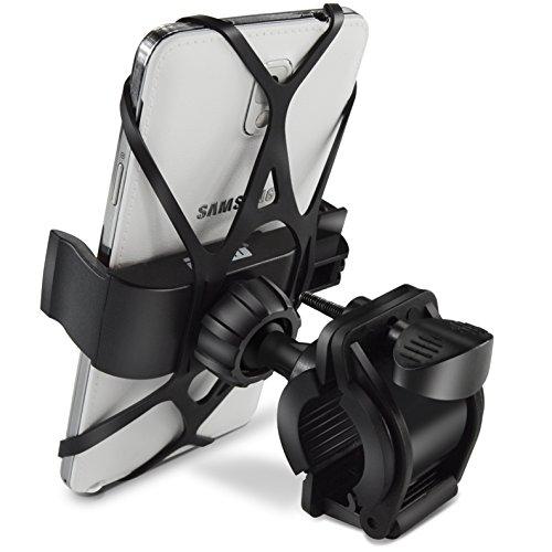 Bike Mount, Ipow Universal Cell Phone Bicycle Rack Handlebar & Motorcycle Holder Cradle for iPhone 6 6(+) 6S 6S plus 5S 5C, Samsung Galaxy S3 S4 S5 S6 S7 Note 3/4/5,Nexus,HTC,LG,BlackBerry,Black