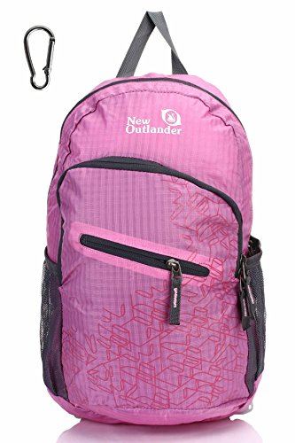 Outlander Packable Handy Lightweight Travel Hiking Backpack Daypack, Pink