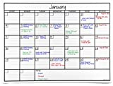 OfficeAid Large Laminated Dry Erase Wall Calendar (Medium (24' 36'))