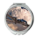Yanteng World war Aircraft,Mirror,Compact Mirror,Fighter Guide Pathfinder,Pocket Mirror,Portable Mirror