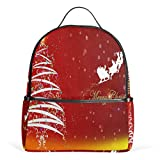 Merry Christmas Wishes School Backpack For Boys Kids Primary School Bags Child Daypack