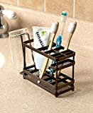 The Lakeside Collection Bronze Metal Bathroom Countertop Organizer