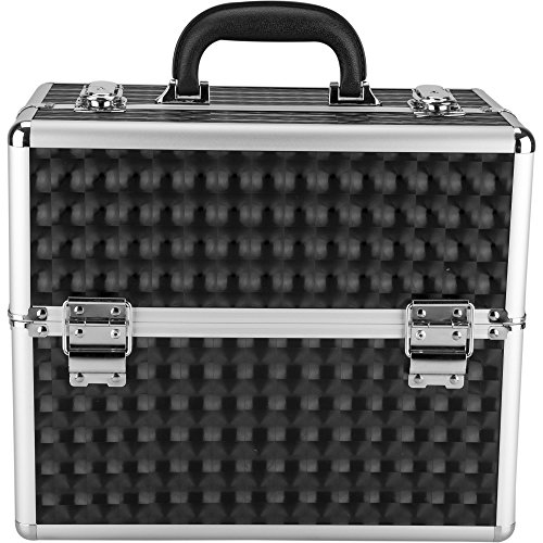 Hiker PT4001 3-Tiers Accordion Trays Professional Makeup Train Case ...