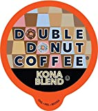 Double Donut Gourmet Coffee, Kona Blend, in Recyclable Single Serve Cups for all Keurig K-Cup Brewers, 80 Count
