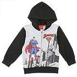DC Comics Little Boys' Toddler Superman Full Zip Hoodie (4T)