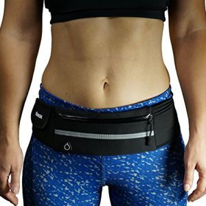 dimok Running Belt Waist Pack – Water Resistant Runners Belt Fanny Pack for Hiking Fitness – Adjustable Running Pouch for All Kinds of Phones iPhone Android Windows