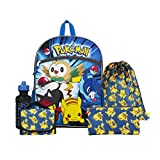 Pokemon Blue and Yellow 16' Backpack Back to School Essentials Set