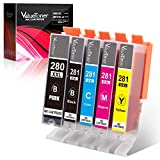 Valuetoner Compatible Ink Cartridge Replacement for Canon PGI-280XXL CLI-281XXL PGI 280 XXL CLI 281 XXL for PIXMA TR7520 TR8520 TS6120 TS6220 TS8120 TS8220 TS9120 TS9520 TS9521C TS702 Printer (5-Pack)