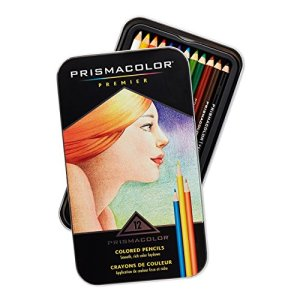 Prismacolor Premier Colored Woodcase Pencils, 12 Assorted Colors with Pencil Sharpener