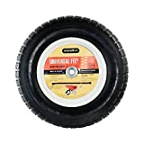 Marathon Industries 20265 Universal Fit Pneumatic (Air-Filled) Wheelbarrow Tire, 3' Centered Hub, 5/8' Ball Bearing with Spacer Kit Included