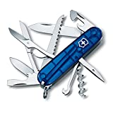 Victorinox Swiss Army Multi-Tool, Fieldmaster Pocket Knife, Blue