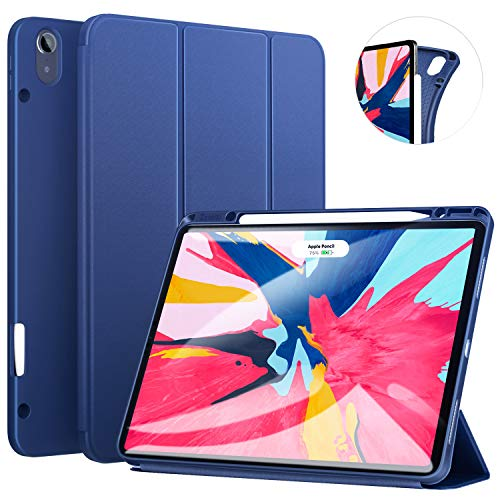 Ztotop Case for iPad Pro 12.9 Inch 2018, Full Body Protective Rugged Shockproof Case with iPad Pencil Holder, Auto Sleep/Wake, Support iPad Pencil Charging for iPad Pro 12.9 Inch 3rd Gen - Navy Blue