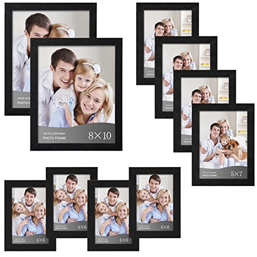 Woltu 10 Piece Multi Pack Black Picture Frame Set For Wall With