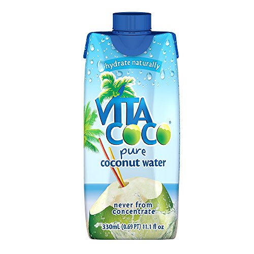 Vita Coco Coconut Water, Pure, Non-GMO, Gluten-Free, Vitamin and Electrolyte-Rich Beverage to Fuel Energy and Hydration, 11.1 Ounce (Pack of 12)