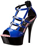 Ellie Shoes Women's 609-Spangle Dress Sandal, Blue, 7 B US