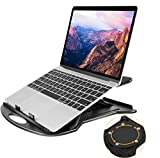 """Adjustable Laptop Stand, 360 ° Swivel Laptop Riser Fits 11-15.6"""" Laptop, Tablet, Notebook by HUANUO"""