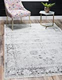 Unique Loom 3134033 Area Rug, 8' x 10' Rectangle, Gray