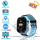 Benobby 2019 New Kids Smartwatches, for Boys and Girls from 3-12 Years Old, Daily Use Waterproof/GPS+LBS Positioning/Two-Way Communication/SOS Warning/Math Games/Alarm, Best Gift for Kids(Blue)