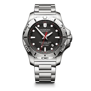 Victorinox Swiss Army Men's I.N.O.X. Swiss-Quartz Watch with Stainless-Steel Strap, Silver, 22 (Model: 241781)