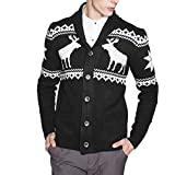 Product review for LETSQK Men's Casual Slim Fit Button Knitted Shawl Collar Sweater Cardigans
