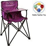 ciao baby - Portable High Chair with Rattle Teether Toy - Purple